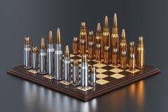 Chess battle field Royalty Free Stock Photo