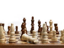 Chess beating the king stock photo
