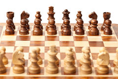 Chess - beginning of game Stock Photography