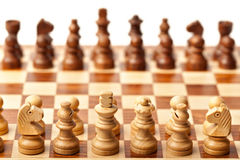 Chess - beginning of game Stock Images