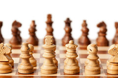 Chess - beginning of game Stock Image