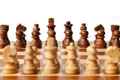 Chess - beginning of game Royalty Free Stock Photos