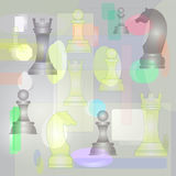 Chess pattern vector. Chess big pattern with abstract  background Stock Photos