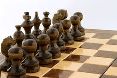 Chess black army Royalty Free Stock Photo