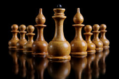 Chess On a black background Stock Photos