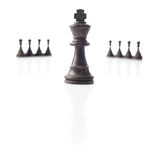 Chess. Black king and pawns. Power concept. Stock Photography