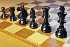 Chess. Black line. Royalty Free Stock Image
