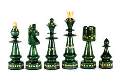 Chess black pieces Royalty Free Stock Photos