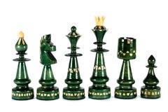 Chess black pieces Royalty Free Stock Photos