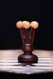 Chess black queen on the board Royalty Free Stock Photos