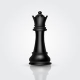 Chess black queen Royalty Free Stock Photos
