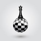 Chess black queen Stock Photos