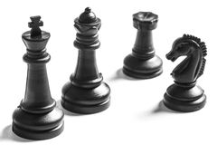 Chess. Black chess on a white background stock photo