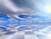 Chess blue abstract background 3D illustration. Chess blue abstract background 3D render vector illustration