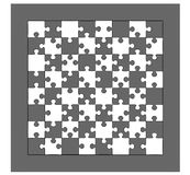 Chess board. Made of puzzle pieces. No chess pieces are on the . table is isolated on white background vector illustration