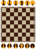 Chess board. Vector illustration of chess board on white background Stock Photos