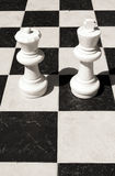 Chess board. With game pieces Royalty Free Stock Image