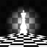 Chess Board. With white King,nicely designed with chess square background Royalty Free Stock Images