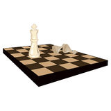Chess board. Simple illustration of a chess board Royalty Free Stock Image