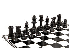 Chess board. Chess pieces team on white background Royalty Free Stock Photography