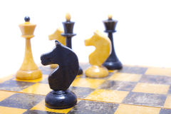 Chess on board. This is chess on board. It is theme of strategy Royalty Free Stock Photography
