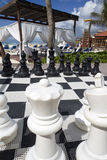 Chess Board. A large black and white chess board Royalty Free Stock Images