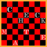 CHESS BOARD. Check Mate. Chess Board both simple and accurate in scale with the words CHECK MATE Royalty Free Stock Photography