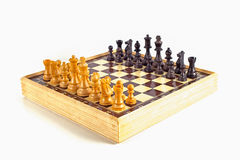 Chess Board. Chess  on white background Stock Photo