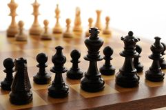 Chess board. A chess board set up ready for a game royalty free stock photography