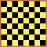 Chess board. Vector graphic of a black and yellow chess board Royalty Free Stock Image