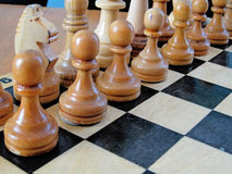 Chess. On the  board Royalty Free Stock Photos