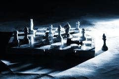Chess on a board Royalty Free Stock Images