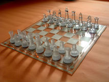 Chess board. Glass royalty free stock photos