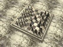 Chess Board. Yellow, green stone chess board royalty free illustration