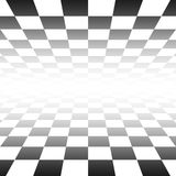 Chess board. An illustration of a blach and white chess board perspective Royalty Free Stock Photos