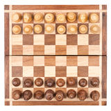 Chess board with all pieces Stock Images