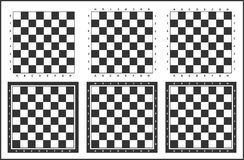 Chess board background design. Chess table, chess board vector set, black and white royalty free illustration