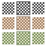 Chess board background design. Chess table, chess board vector set design stock illustration