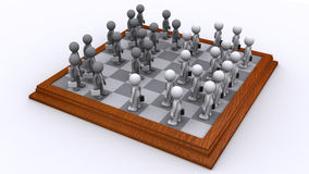 A Chess board of Business people. Strategy concept. A Chess board of Business people. Isolated Stock Photography