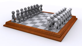 A Chess board of Business people. Strategy concept. A Chess board of Business people. Isolated Stock Image
