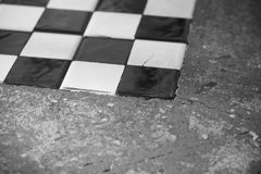 Chess board that capture at the corner Stock Photos