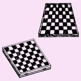 Chess board or checkers board Stock Photos