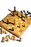 Chess board in checkmate Stock Photos