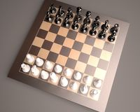 Chess-board with chess. Chess board with glass chess Stock Images
