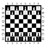 Chess Board with Chess Figure. Vector Stock Photography