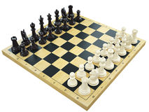 Chess board with chess figures Stock Images