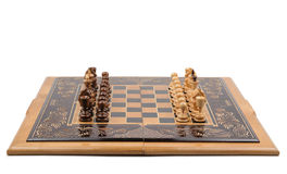 Chess board with chess-men Royalty Free Stock Photo