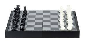 Chess board with chess pieces Royalty Free Stock Photos
