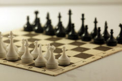 Chess board with chess pieces Stock Images