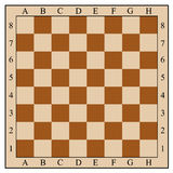 Chess board without chess pieces Stock Images